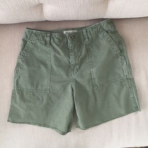 Madewell high rise cargo shorts